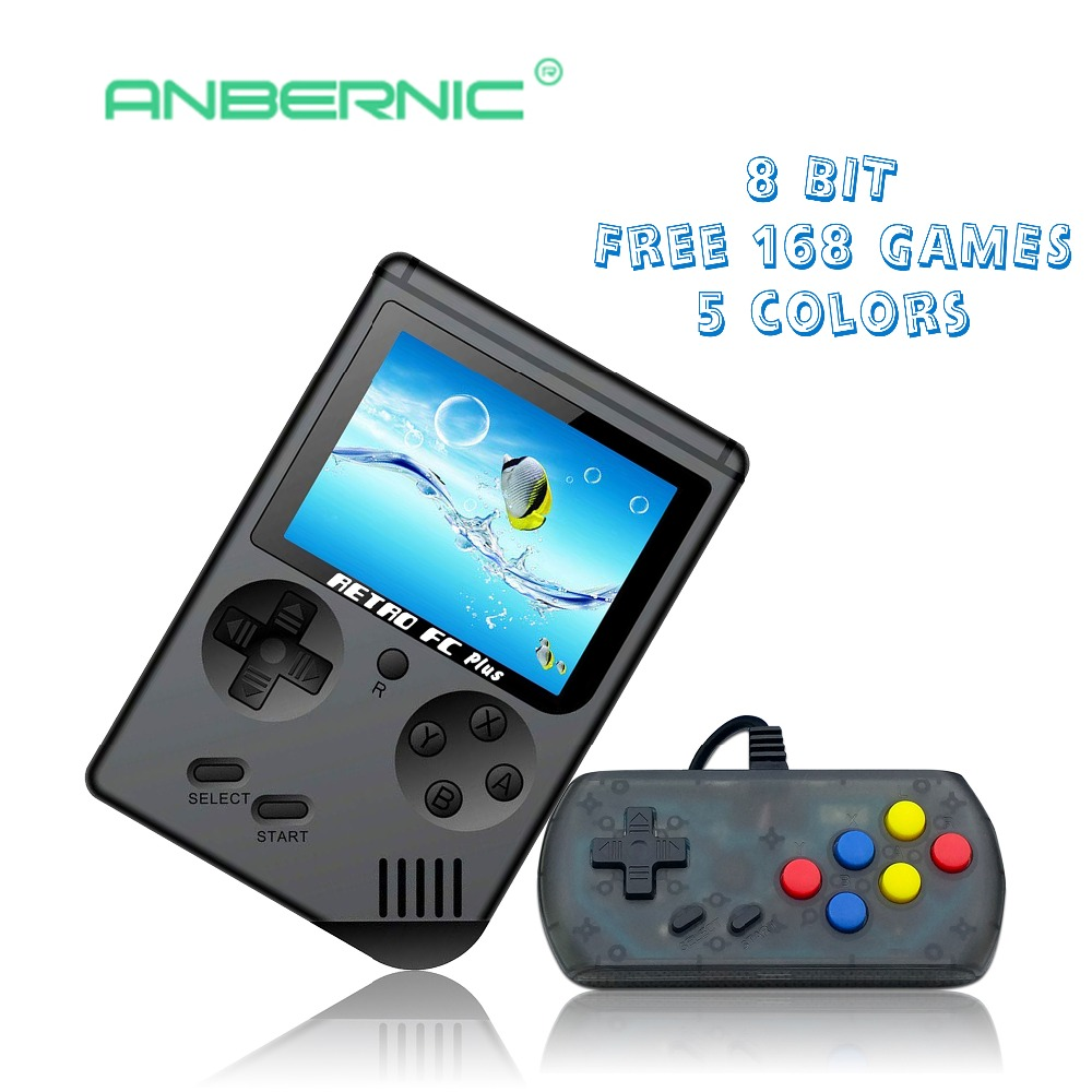 Video Game Retro Console 8 Bit Retro Mini Pocket Handheld Game Player Built-in 168 Classic Games Best Gift for Child Nostalgic