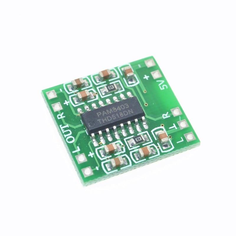 10 pces pam8403 super mini placa de amplificador de potência digital miniatura classe d placa de amplificador de potência 2*3 w alta 2.5-5 v usb