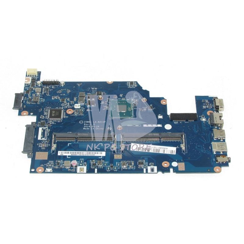 NBMNY11001 NB.MNY11.001 For Acer aspire E5-511 Laptop motherboard Z5WAL LA-B211P SR1YJ N2840 CPU DDR3L nokotion laptop motherboard for acer aspire 5820g 5820t 5820tzg mbptg06001 dazr7bmb8e0 31zr7mb0000 hm55 ddr3 mainboard