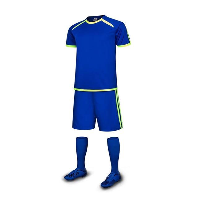 Envío libre Niños hijos niños Camisetas de Soccer Sets color azul ...