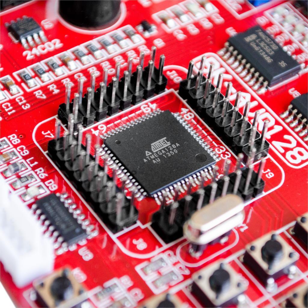 Image 5 - Red crown Specials AVR development board ATMEGA128 learning board experiment board super cost effectiveboard luggageboard screwboard photo -
