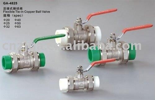 25mm PPR double union ball valve