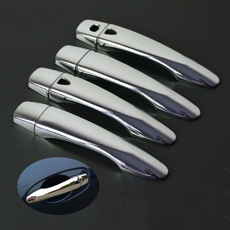 FUNDUOO For Nissan x-trail rogue t32 xtrail 2014 2015 2016 2017 Chrome Exterior Door Handle Cover Trim Sticker Car Styling
