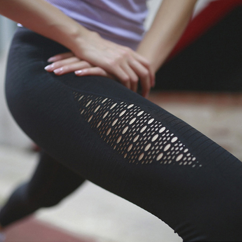 SALSPOR Women Yoga Pants Sports Running Sportswear Stretchy Fitness Leggings Gym Seamless Tummy Control Compression Tights Pants 4