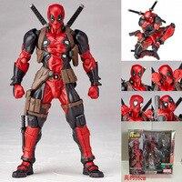 SCI FI Revoltech Deadpool PVC Action Figures Collectible Model Toys 15cm