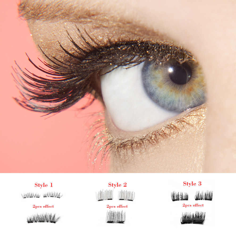 272a051ee7a ... 3D Mink Makeup Magnetic Eyelashes magnet false lashes Dual Triple Magnet  Eye Lashes Ultra Thin Reusable ...