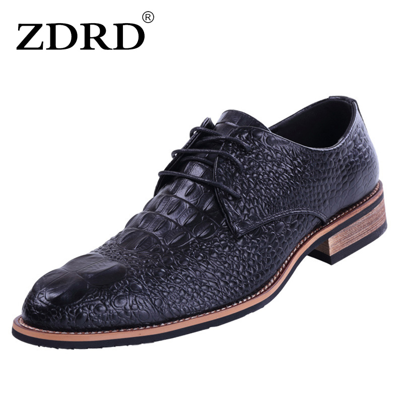 ZDRD New Brand Men Flats Shoes Top Quality Genuine Leather Men Oxfords Shoes Summer Spring Lace-up Casual Leather Shoes For Men