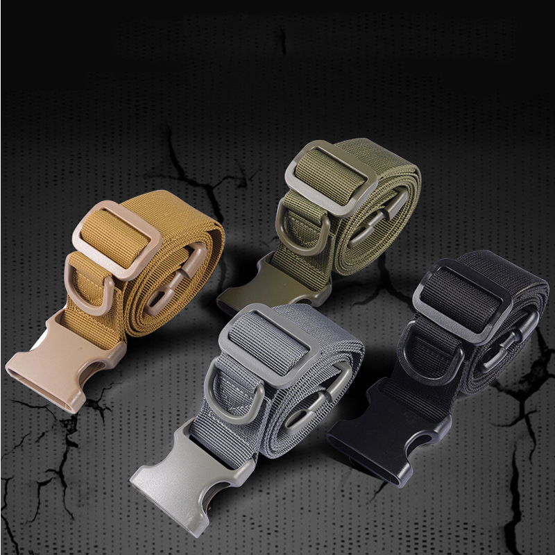 Systematic Belt Men Military Tactical Army Nylon Belt Swat Simple Combat Bag Deputy Belts Outdoor Hunting Waistband Equipment Accessories