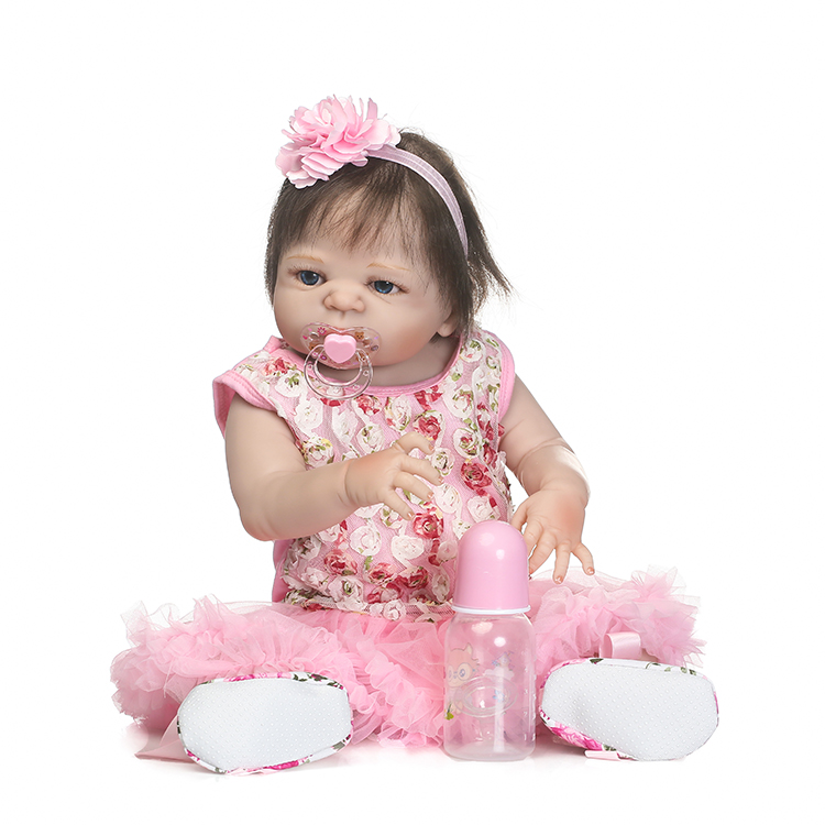 55cm Full Silicone Reborn Baby Doll Toy Like Real 22inch Newborn Princess Girl Babies Toddler Doll Bathe Toy Children Xmas Gift npkcollection 55cm full silicone body reborn baby doll toy like real 22inch newborn girl princess babies doll bathe toy kid gift
