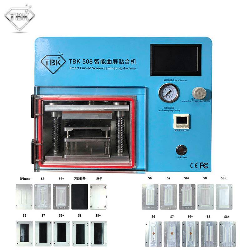 2019 nouveau 5 en 1 TBK-508 Machine à plastifier sous vide pour samsung S6 S6 + S7 S8 S8 + bord incurvé téléphone LCD OCA machine de réparation