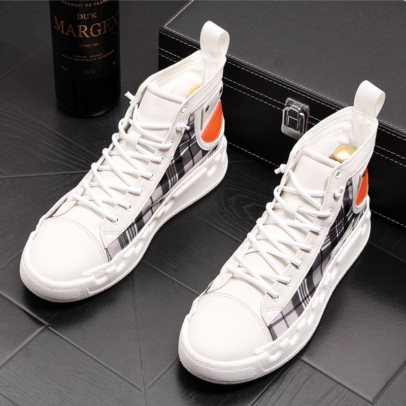 Stephoes Luxury Brand Men Casual Ankle Boots Spring Autumn High Top Men's Vulcanize Comfortable Sneakers Walking Leisure Shoes-in Men's Casual Shoes from Shoes on Aliexpress.com | Alibaba Group 44