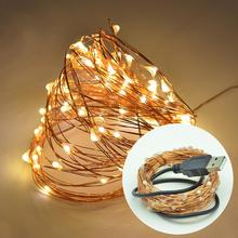 Christmas Decoration Home Parties Decor LED Multi-Purpose Copper String Light Manual USB Connector