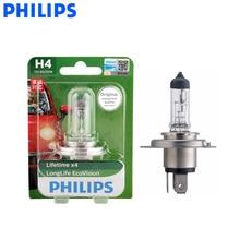 Philips H4 9003 12 V 60/55 W LongLife Eco Vision 3000 H длинная пожизненная Автомобильная галогенная фара авто hi/Lo Beam ECE 12342 LLECO B1, 1X