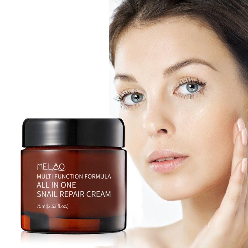 цена на Snail Cream 75ml Face Cream Shirink Pores Repair Whitening Cream Moisturizing Anti-aging Serum Anti Wrinkle Oil-control