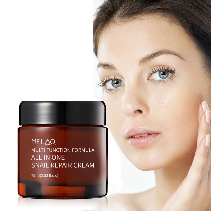 Snail Cream 75ml Face Cream Shirink Pores Repair Whitening Cream Moisturizing Anti-aging Serum Anti Wrinkle Oil-control image