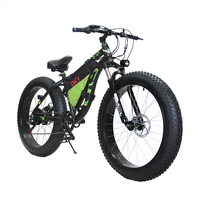 26 Inch Electric Snow Cross Country Mountain Bike 4 0 Tires 48V Lithium Battery Mountain Bike