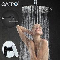 GAPPO Wall Bathroom Shower Faucet Set Bronze Rainfall Shower Faucet Chrome Bathtub Faucet Tap Waterfall Head