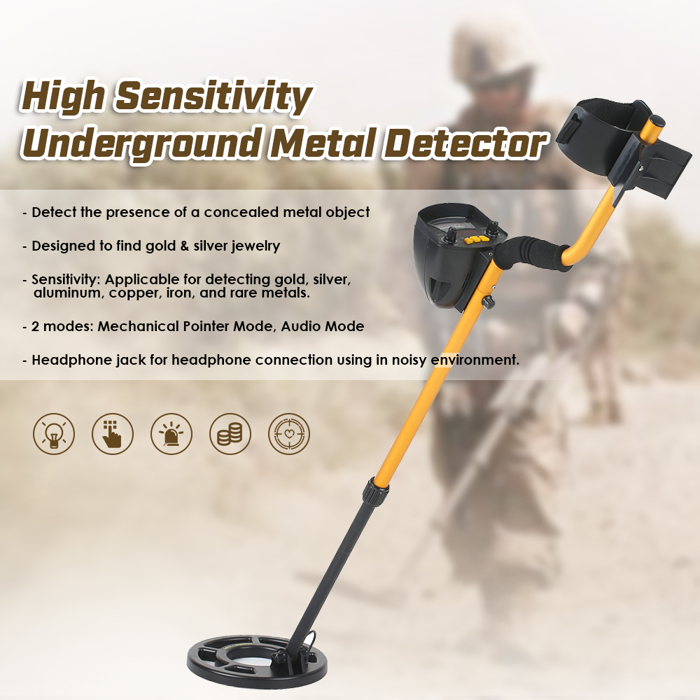KKmoon MD3009II Underground Metal Detector Adjustable gold detector pinpointer Treasure Hunter Metal Finder Tracker Seeking ToolKKmoon MD3009II Underground Metal Detector Adjustable gold detector pinpointer Treasure Hunter Metal Finder Tracker Seeking Tool
