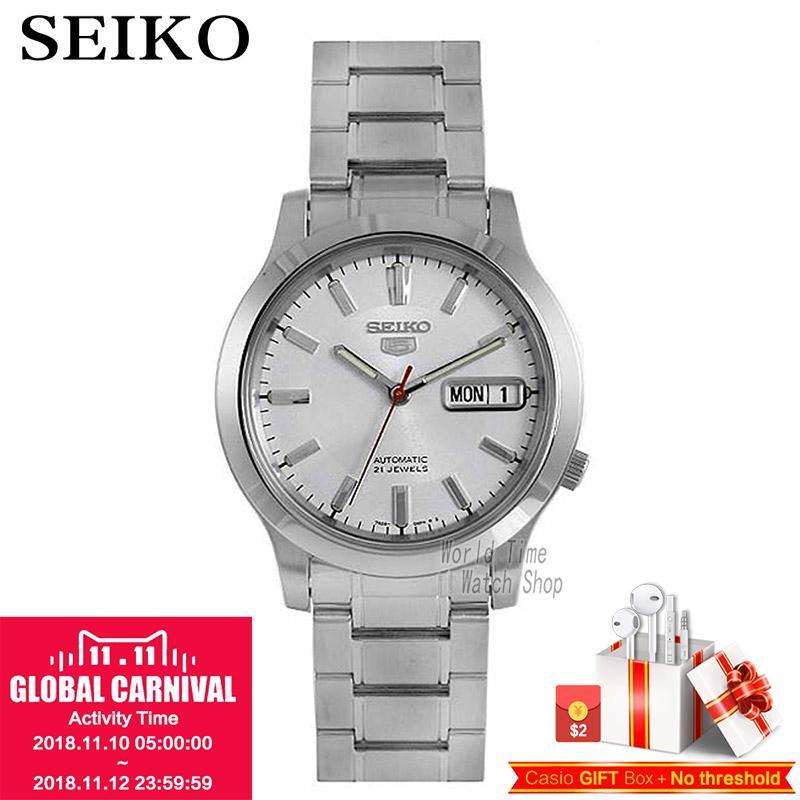 SEIKO Watch Shield 5 Business Double Calendar Strip Automatic Mechanical Male Watch SNXF11K1 SNK789K1 цена и фото