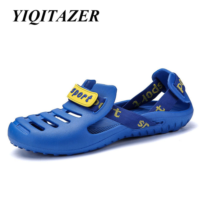 6a60a32123dd YIQITAZER 2018 New Design Arrival Sandal Men Shoes Men Sandals Slip on Beach  Water Shoes for Man Slippers Casual Male Sandalias