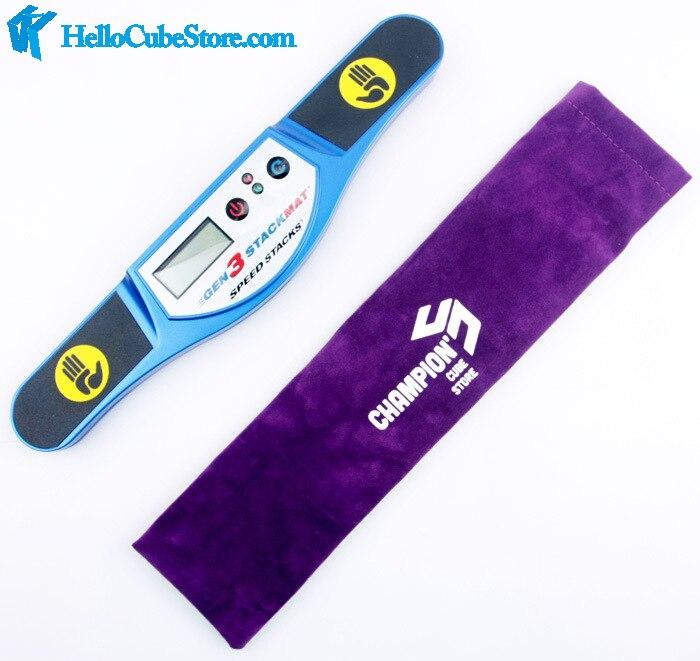Sac velours sac violet, bleu et gris pour cube minuterie le sac peut contenir un Speedstacks ou QJ ou Yuxin ou Fanxin minuterie seulement est sac