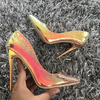 2019 New fashion woman shoes snake printing party wedding shoes big size 35-42 sexy pointed toe high heels pumps women shoes 2