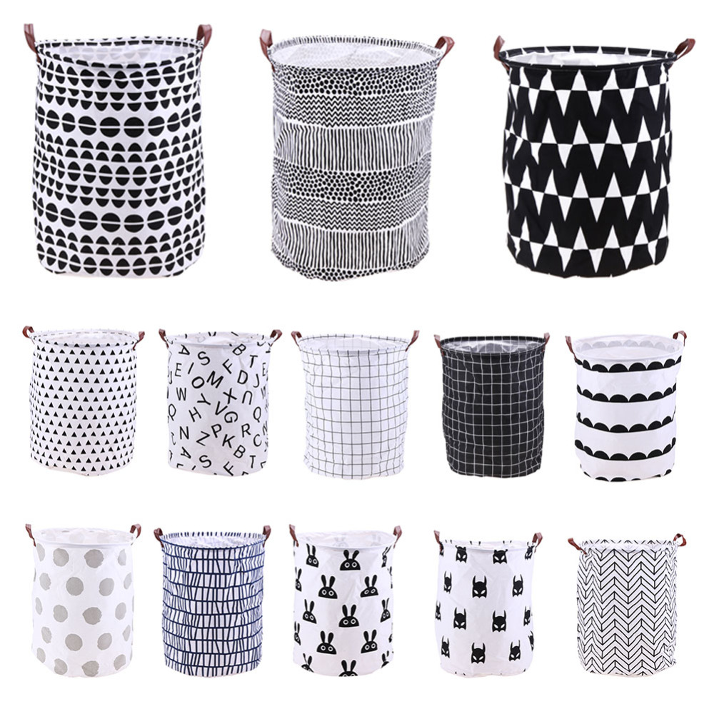 Wasserdicht Schmutzige Kleidung Ablagekorb Barrel Klapp Baumwolle Leinen Waschen Wäschekorb Lagerung Wäschesack Organizer