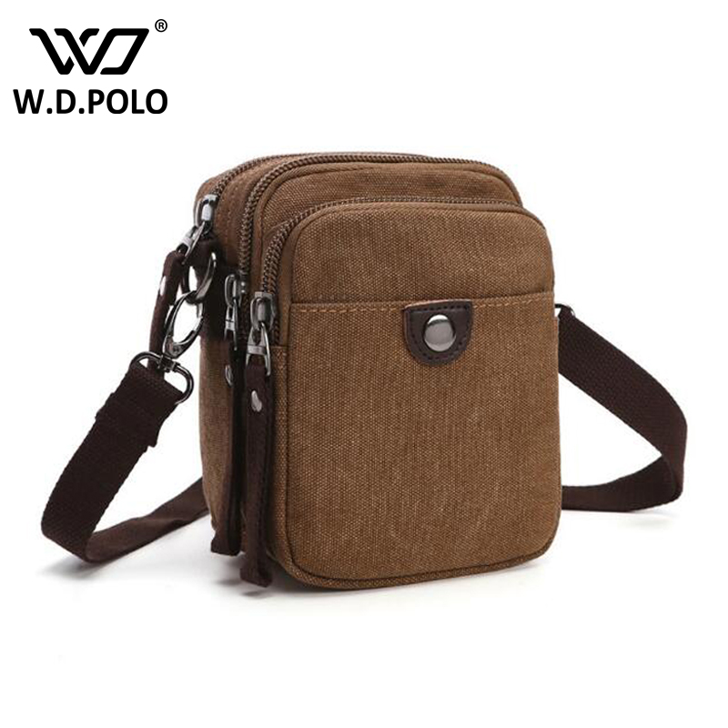 WDPOLO new Design Men Canvas Small Messenger Bag High Quality Casual Handbags Military Crossbody Shoulder Bags bolsa men sacC115 augur new men crossbody bag male vintage canvas men s shoulder bag military style high quality messenger bag casual travelling