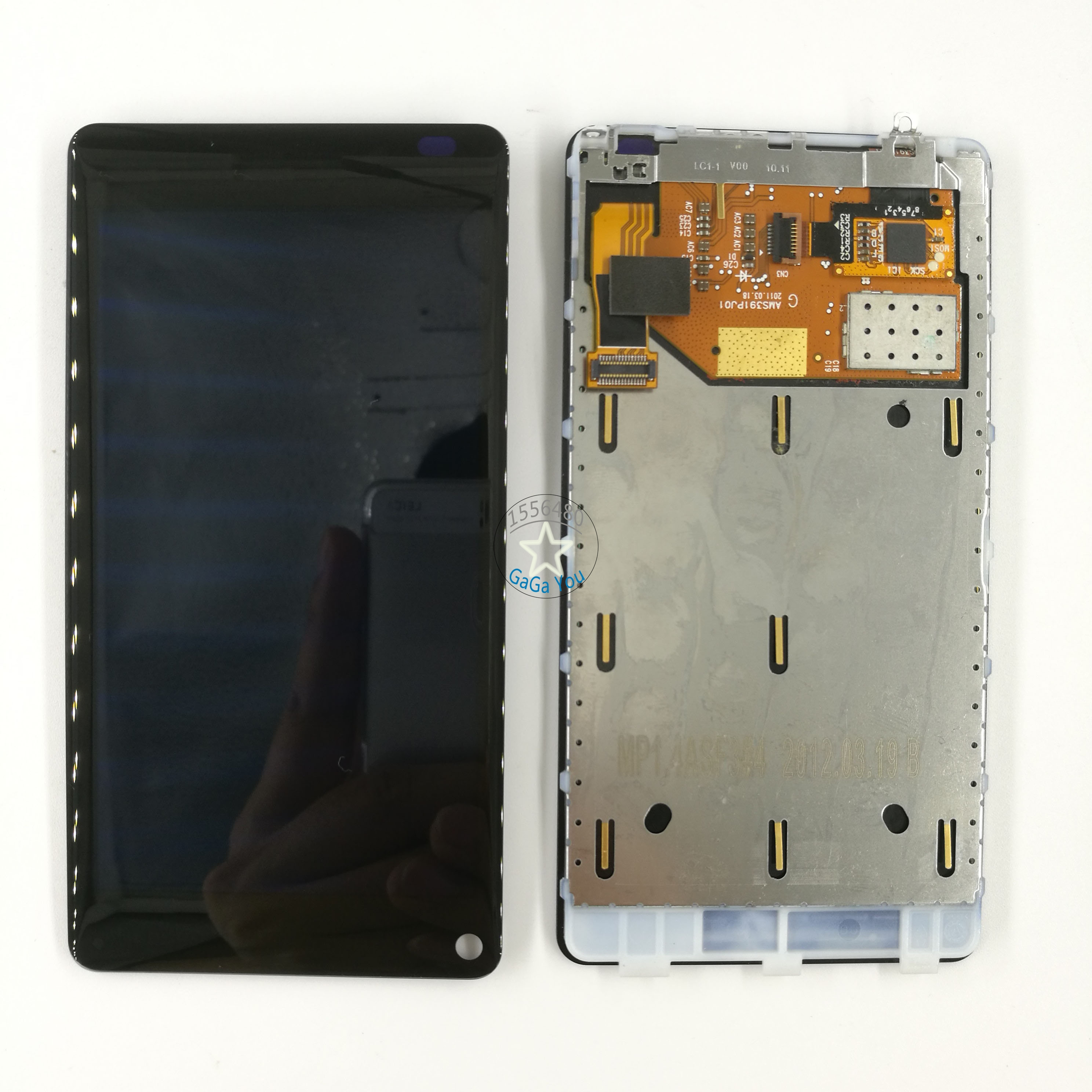 Original LCD Display Touch Screen Digitizer Assembly + Frame Bezel For Nokia Lumia 800 LCD Screen Panel Replacement Parts головка торцевая ударная