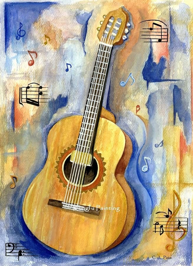 100 Hand Painted Discount Abstract Guitar Paintings Wall Art Decoration Home High Quality Unique Gift In Painting Calligraphy From Garden On