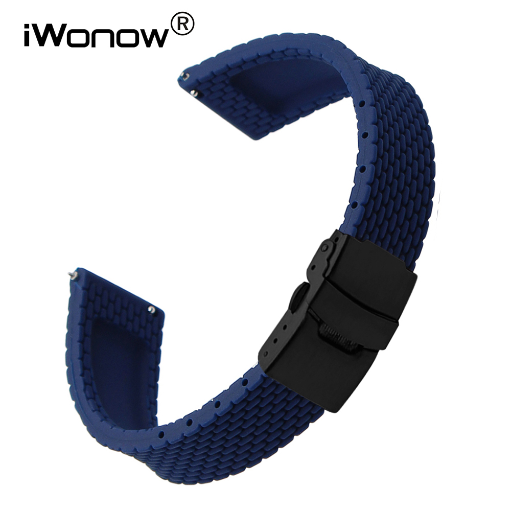 22mm Quick Release Silicone Rubber Watchband for Samsung Gear S3 Classic Frontier Gear 2 Neo Live Smart Watch Band Wrist Strap