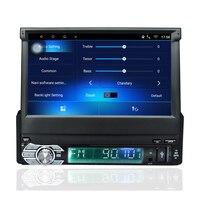 Android 6,0 автомобильный радиоприемник стерео Универсальный 7 емкостный сенсорный экран 1 Din 1024*600 для gps навигации BT Радио стерео аудио плеер
