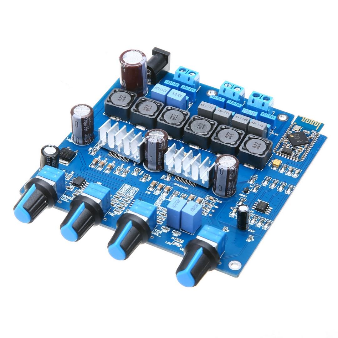 Mayitr 1 stück Neue TPA3116 2,1 Verstärkerplatine 20Hz bis 20 KHz Pro Bluetooth 4,0 Stereo-klasse-d-digitalverstärker bord 100 Watt + 2*50 Watt