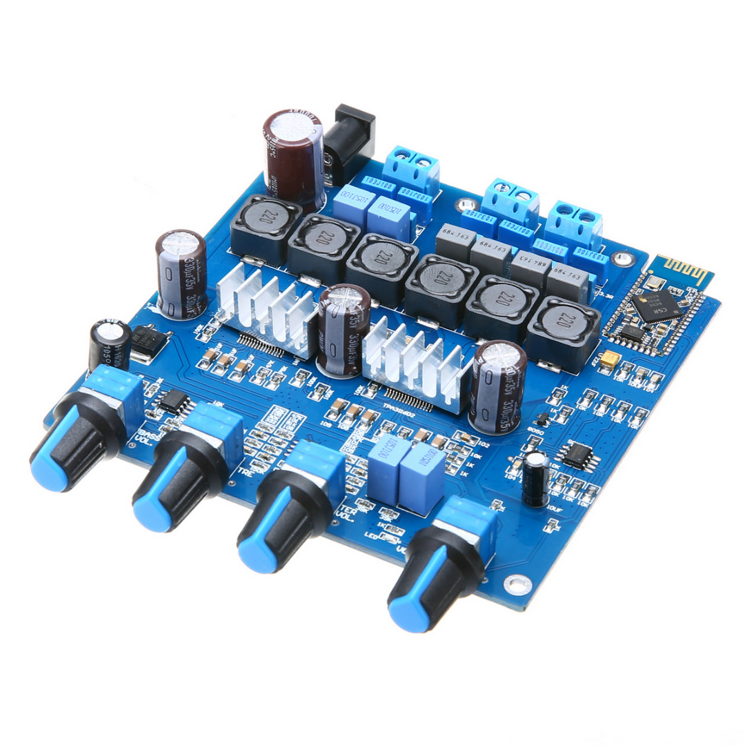 Mayitr 1pc New TPA3116 2.1 Amplifier Board 20Hz to 20KHz Pro Bluetooth 4.0 Class D Digital Amplifier Board 100W+2*50W 5 2 way airtac solenoid valve 4v series 4v330c 08 1 4 close centerr dc24v ac220v