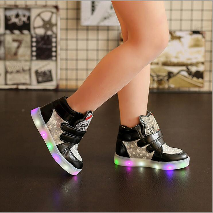 Children-cartoon-kitty-casual-shoes-with-light-new-breathable-sports-shoes-girls-flashing-LED-fashion-glowing-sneakers-21-30-3