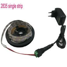 led strip 2835 60leds/m single chip White or Warm white red LED light SMD led tape diode flexible ribbon DC 12V 2A adapter set