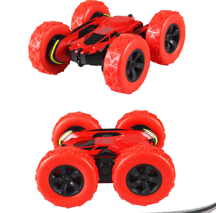Electric RC Stunt Car 2WD Off Road Remote Control Vehicle 2.4GHz Racing slot Cars Extreme High Speed 7.5MPH 360 Degree Rolling