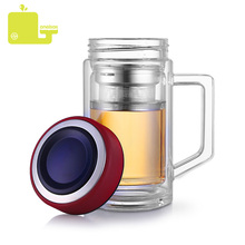 Oneisall 350ML Glass Cup Water Bottle 304 Stainless Steel Tea Infuser Leakproof Office Home For Water Double Layer Tumbler все цены