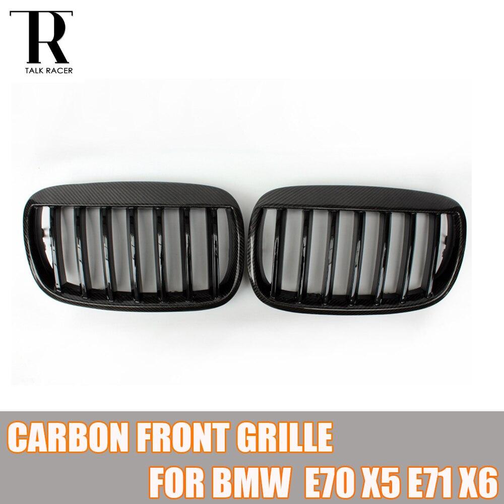 E70 E71 En Fiber De Carbone Pare-chocs Avant Grille Grill pour BMW E70 E71 X5 X6 2007-2013