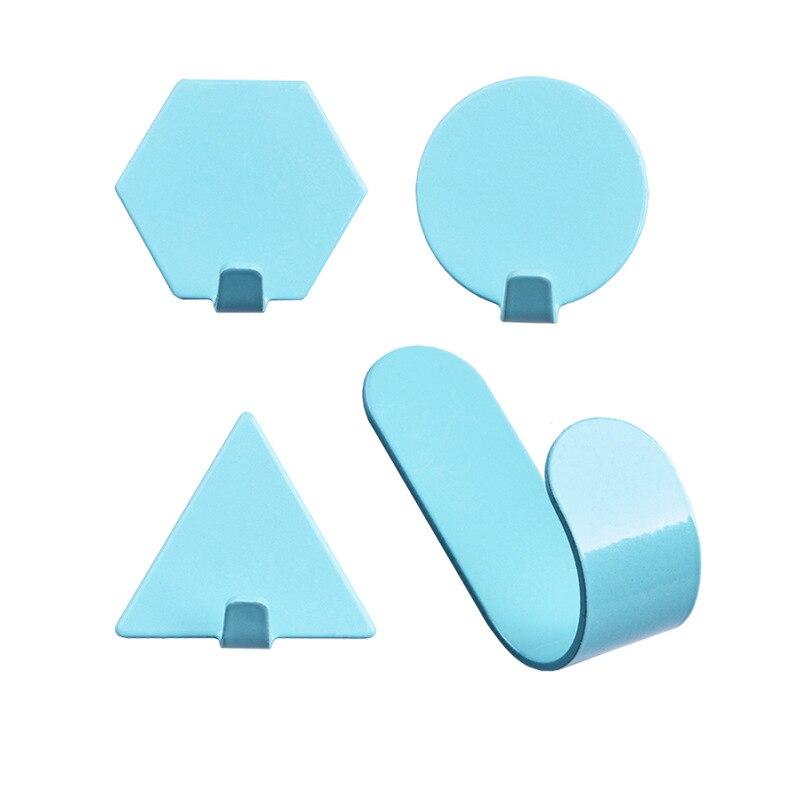 Enipate 4 Stks/set Nordic Creatieve Geometrische Smeedijzeren Haken Home Decoratieve Haak Badkamer Muur Gemonteerde Doek Hanger
