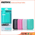 REMAX Mini Power Bank 10000 mAh LED Telemóveis Carregador de Bateria de Backup Externo Powerbank Portátil bateria externa Universal