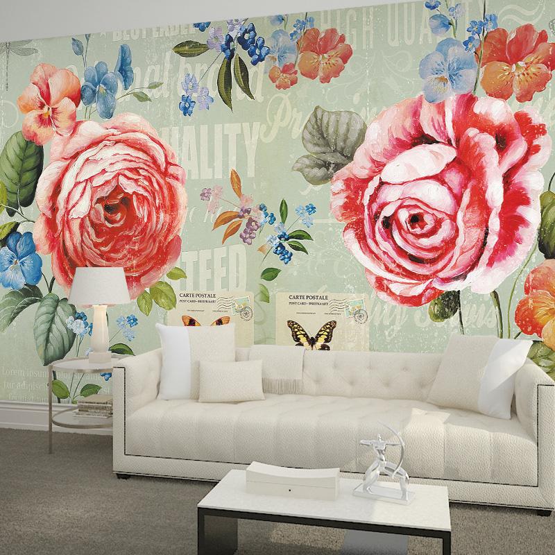 freies verschiffen groe tv hintergrund wandbild vlies schlafzimmer wohnzimmer tapete moderne 3d rose tapete wandbild