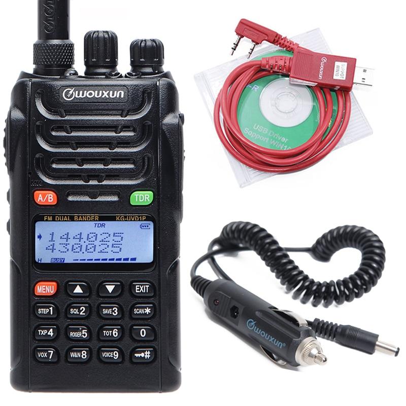 WOUXUN KG UVD1P Dual Band 136 174MHz & 400 470MHz 1700mAh Battery Handheld FM transceiver VOX KGUVD1P Protable Walkie Talkie