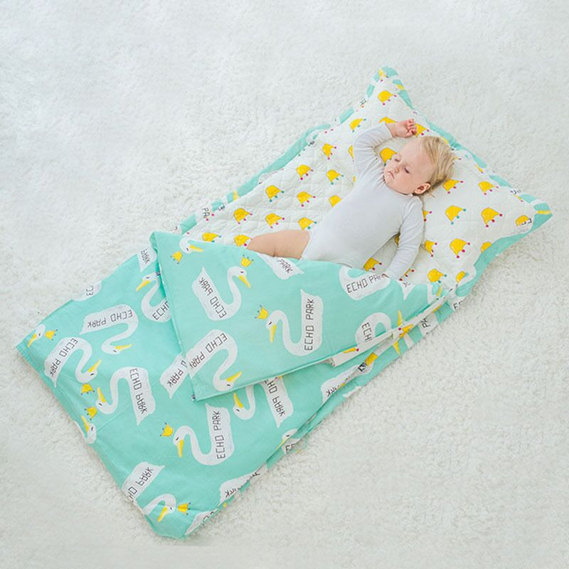 New Baby Cotton Bedding Sets Without Filling Sleeping Bag Children Summer Baby Anti Kick Quilt Baby Quilt Cover + Bed Sheet free shipping baby cot cotton quilt kindergarten summer quilt removable cotton quilt is children 120 100cm