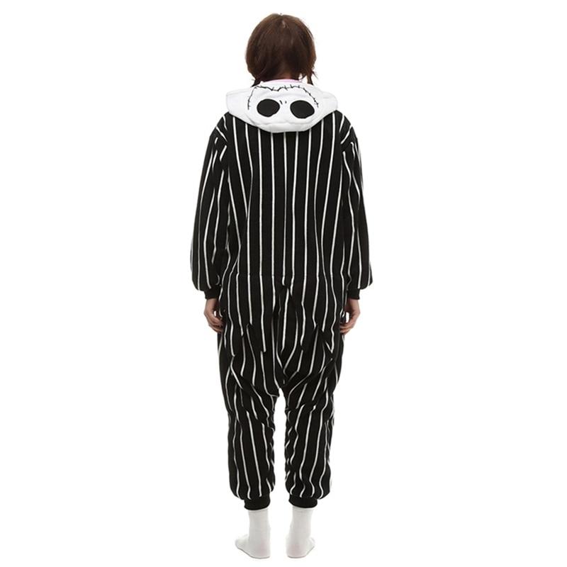 aliexpresscom buy cosplay anime the nightmare before christmas jack skellington skeleton costume onesie party christmas pajamas plus size from reliable