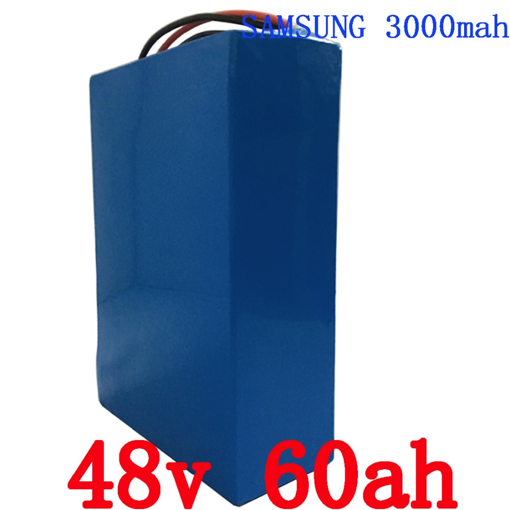 48V 60Ah 3000W use for Samsung  cell electric bicycle lithium Battery with  50A BMS and 5A Charger li-ion scooter battery pack free customs taxes super power 1000w 48v li ion battery pack with 30a bms 48v 15ah lithium battery pack for panasonic cell