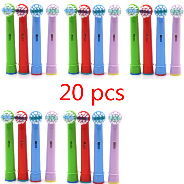20Pcs Children Kids Electric Toothbrush Head Replacement Tooth Brush Head Fit For Oral B EB-10A Pro-Health Stages Teeth Care