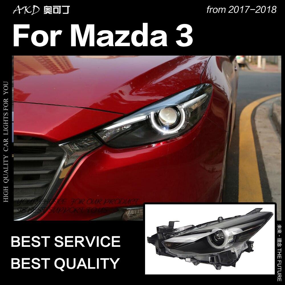 AKD voiture style phare pour Mazda 3 phares 2017-2018 nouveau Mazda3 Axela phare LED LED DRL Hid Bi xénon Auto accessoires
