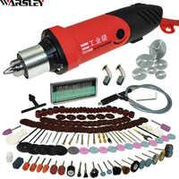 6mm 480W Mini grabador de taladro eléctrico de alta potencia con 6 posiciones de velocidad Variable para herramientas rotativas de Dremel con eje Flexible y