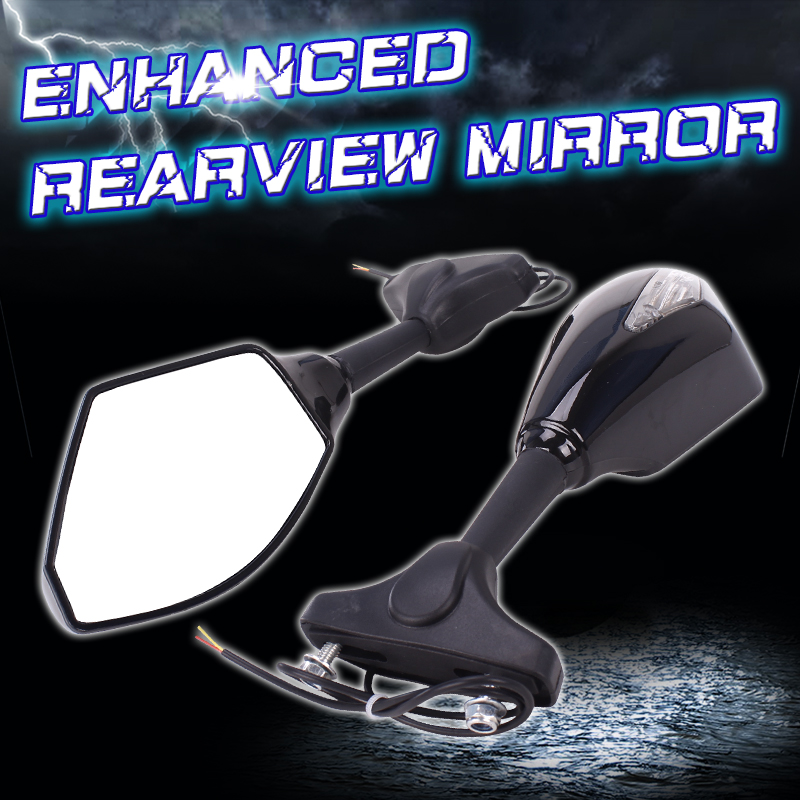 Mirrors Rear View Mirror Inverted with light For Honda CBR1100XX CBR600 2003-2008 CBR1000 2004-2008 R1 F5 Motorcycle Accessories 05 2008